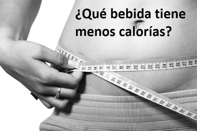bebida tiene menos calorias