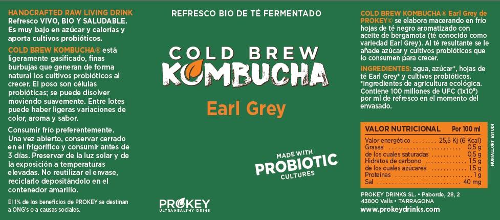 Etiqueta Cold brew kombucha prokeydrinks