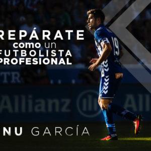 Manu García Futbolista Profesional bebe Prokeydrinks