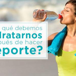 ¿Por qué debemos hidratarnos después de hacer deporte?