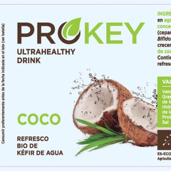 refresco probiótico de coco