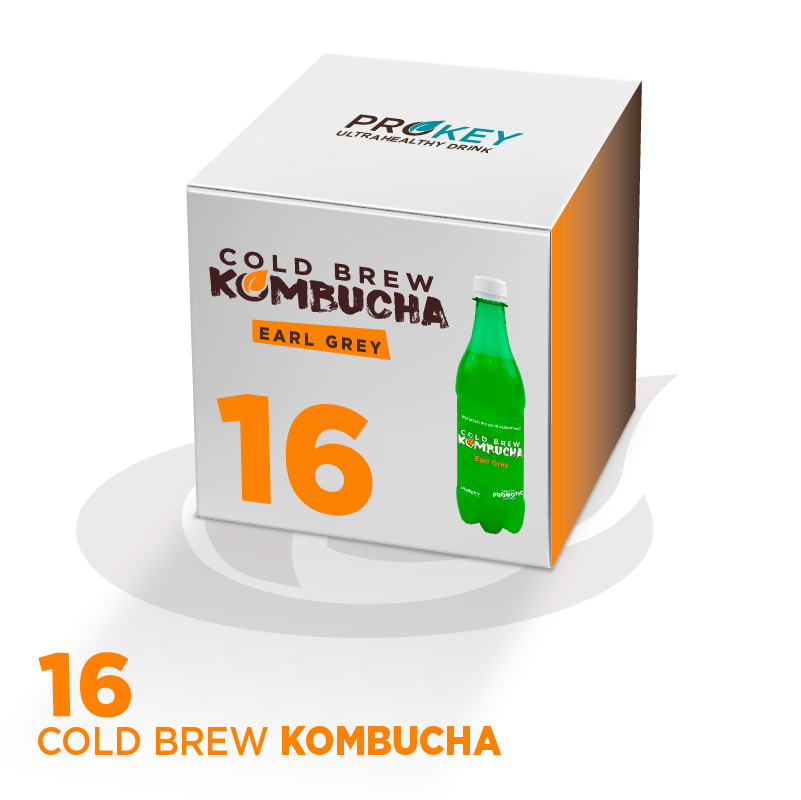 CAIXA DE COLD BREW KOMBUCHA EARL GREY BIO (16x500ml)