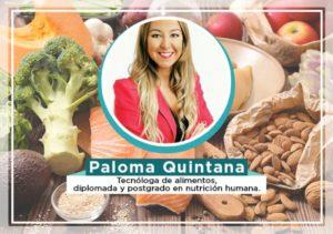 Entrevista con la nutricionista Paloma Quintana