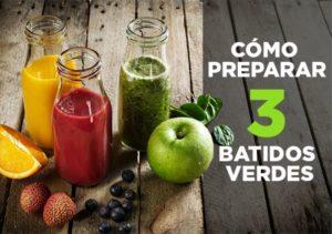 3 batidos verdes y cómo prepararlos