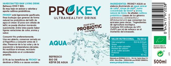 refresco de kefir de agua probiótico