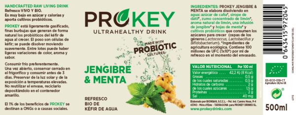 Prokey, refresco de kefir de agua probiótico bio