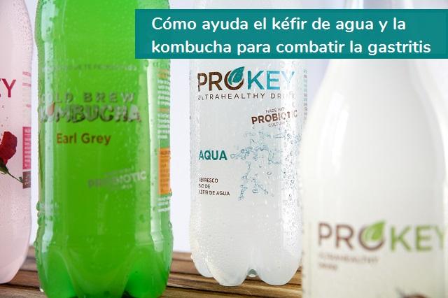 kefir de agua y kombucha para gastritis