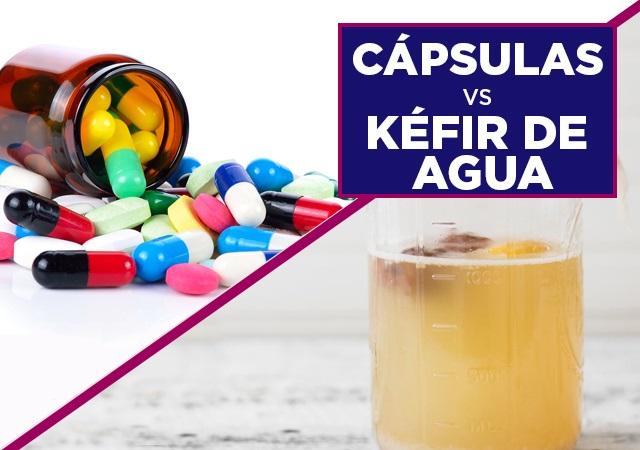 Capsulas Vs Kefir de Agua Prokeydrinks