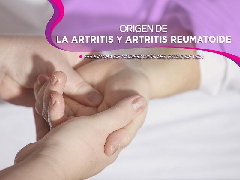 Origen de la artritis y artritis reumatoide. Programa de modificación del estilo de vida