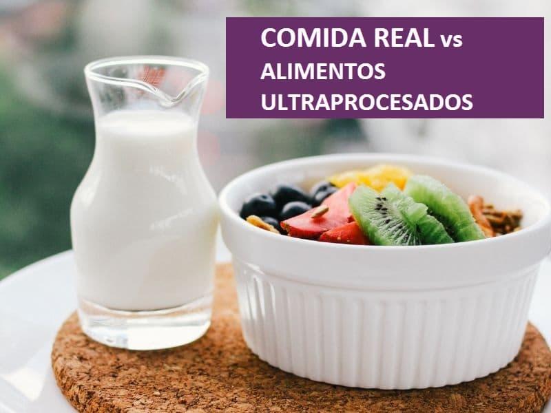 Comida real y alimentos ultraprocesados: diferencias y efectos en la salud