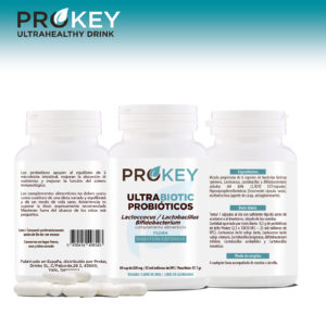 ULTRABIOTIC Probiotics Prokey, 60 capsules of 620 mg