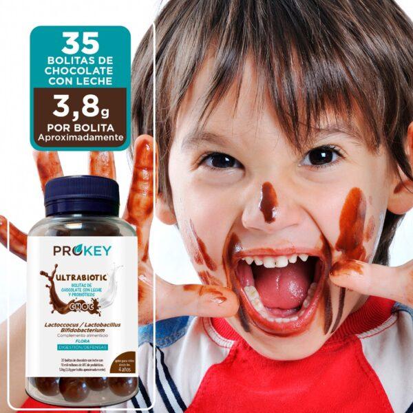 probioticos de chocolate para niños