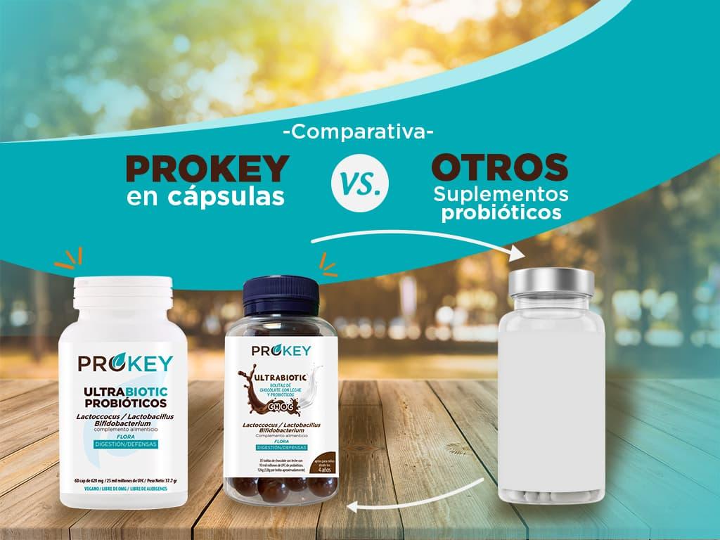 Comparativa prokey en cápsulas vs. Otros suplementos probióticos